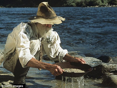 Man Panning for Gold
